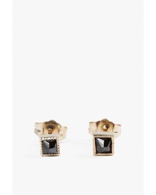 Jennie Kwon | Metallic Square Black Diamond Earring Pair | Lyst