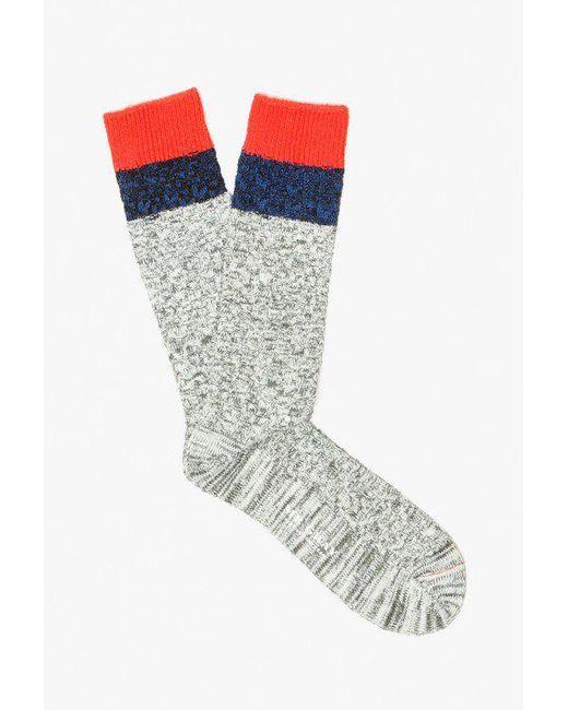 Mr Gray - Multicolor Melange Cable Knit Sock for Men - Lyst