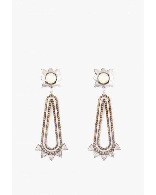 Nicole Romano - Metallic Claiborne Earrings - Lyst