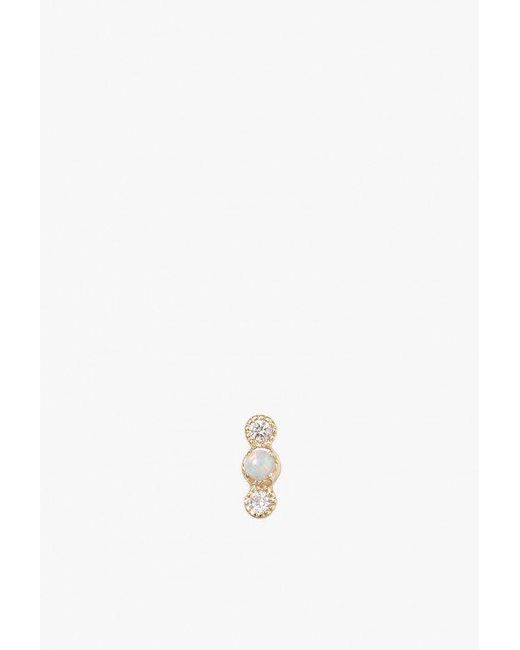 Jennie Kwon - Metallic Opal Diamond Dot Stud S - Lyst