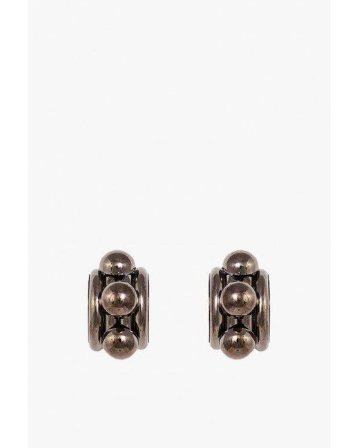 Nicole Romano - Multicolor Arched Tube And Dome Earrings - Lyst