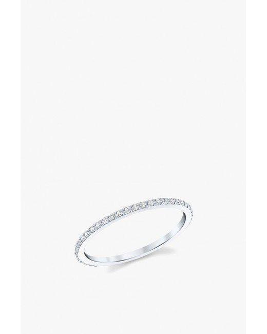 Gabriela Artigas - Metallic Axis Ring With Pave Diamonds - Lyst