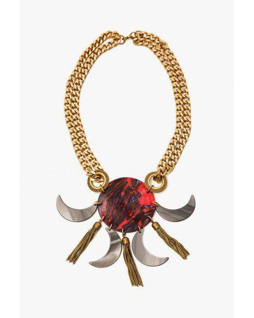 Nicole Romano - Metallic Italian Hand Pressed Crescent Dt Necklace - Lyst