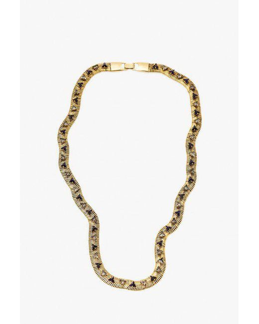 Nicole Romano - Metallic Snake Chain W/ Triangle Necklace - Lyst