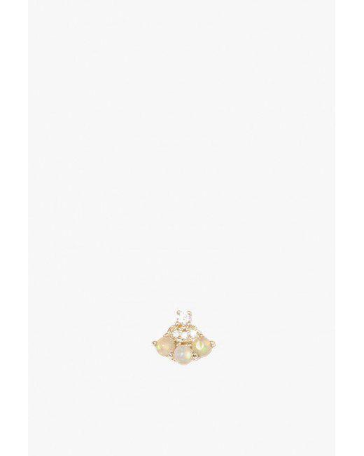 Jennie Kwon | Multicolor Opal Diamond Fan Stud - Single | Lyst
