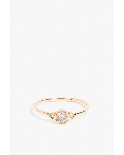 Jennie Kwon   Metallic Gray Diamond Sotto Voce Ring   Lyst