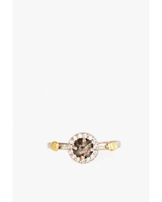 Blair Lauren Brown - Metallic Grey Raw Diamond Nugget Ring - Lyst