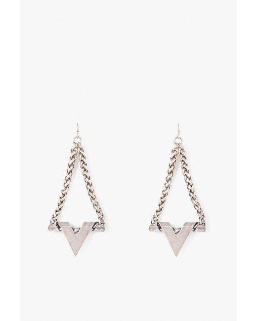 Nicole Romano | Metallic Webster Earrings | Lyst