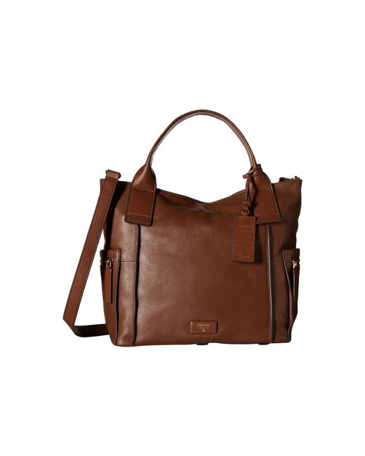 Fossil | Brown Emerson Satchel | Lyst