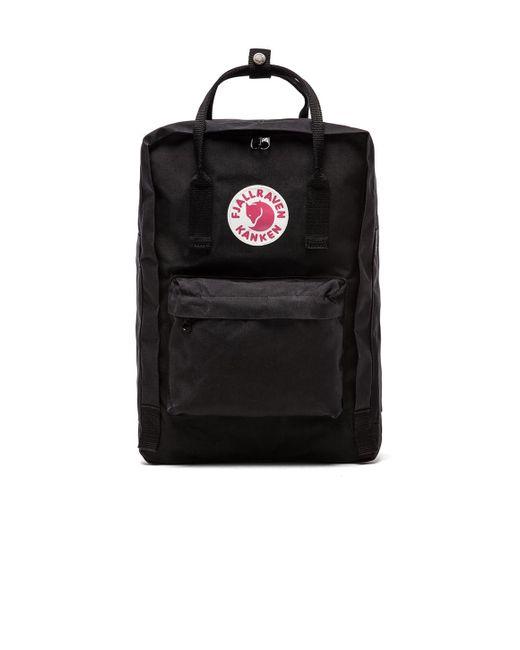 "Fjallraven   Black Kanken 15"" Laptop Pack   Lyst"
