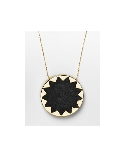 House of Harlow 1960 | Metallic Sunburst Pendant Necklace, 36"