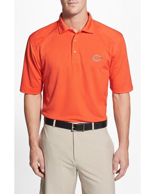 Cutter & Buck | Orange 'chicago Bears - Genre' Drytec Moisture Wicking Polo for Men | Lyst