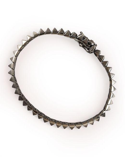 Eddie Borgo | Gray Gunmetal Pyramid Tennis Bracelet | Lyst