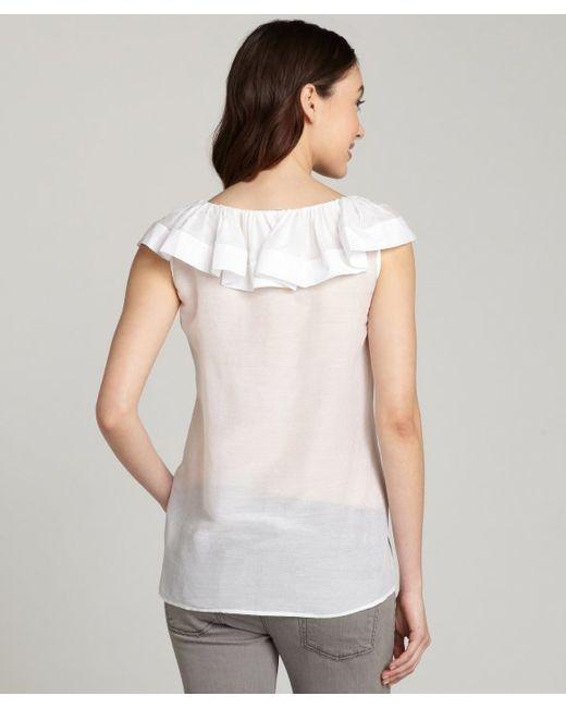 White Cotton Blouse Shirt 36
