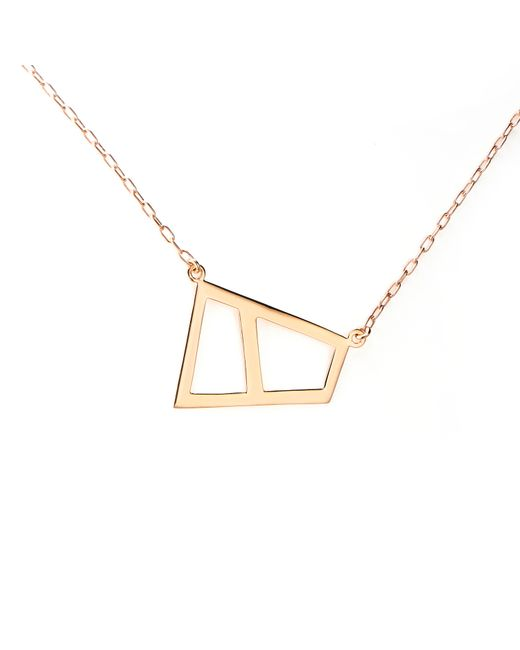 Ona Chan Jewelry | Metallic Double Lattice Necklace Rose Gold | Lyst