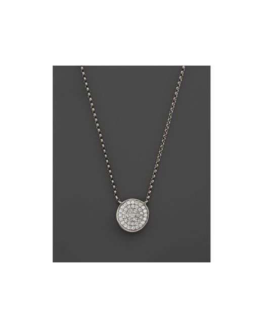 KC Designs | Diamond Pave Disc Pendant Necklace In 14k White Gold, .13 Ct. T.w. | Lyst