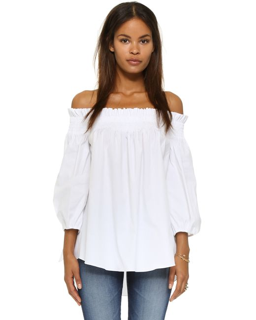 Caroline Constas | White Lou Off The Shoulder Blouse | Lyst