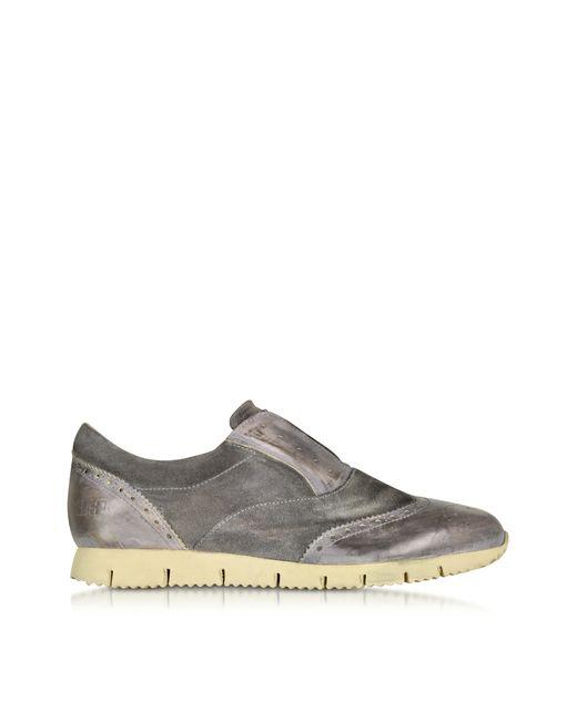 d acquasparta raffaello gray leather slip on shoe in