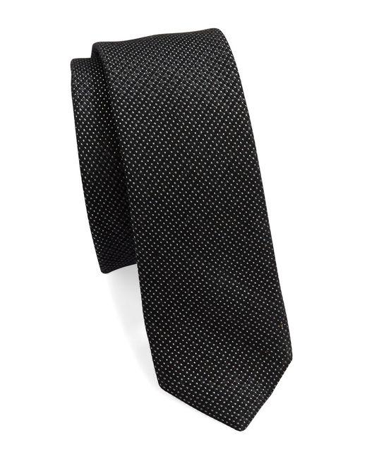 Calvin Klein   Black Textured Silk-blend Tie for Men   Lyst