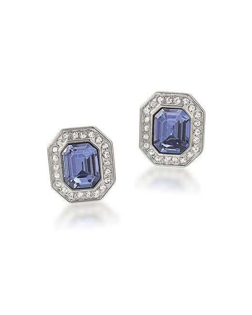Carolee | Metallic The Madison Crystal Button Stud Clip-on Earrings | Lyst