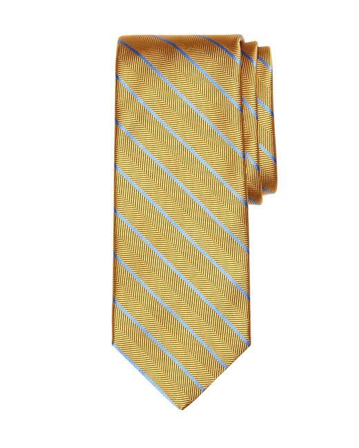 Brooks Brothers | Metallic Herringbone Stripe Tie for Men | Lyst