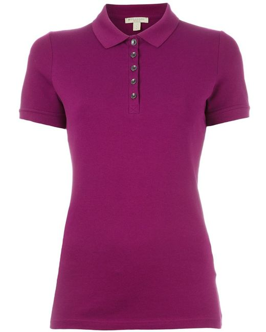 Burberry Brit Classic Polo Shirt In Pink Pink Purple