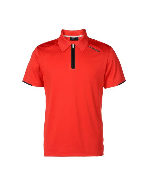 porsche design sport by adidas polo shirt in red for men. Black Bedroom Furniture Sets. Home Design Ideas