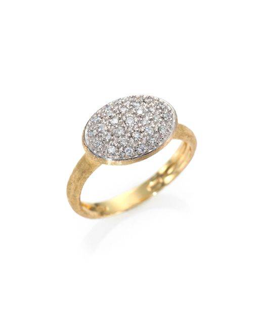 Marco Bicego | Metallic Siviglia Diamond & 18k Yellow Gold Ring | Lyst