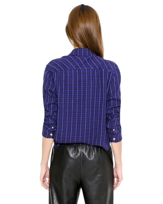 Toile Isabel Marant Cropped Checked Light Wool Flannel