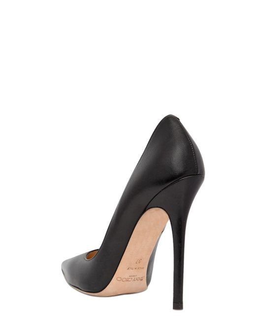 Jimmy Choo | Black 'Driss' Caged Mix Leather Pumps | Lyst