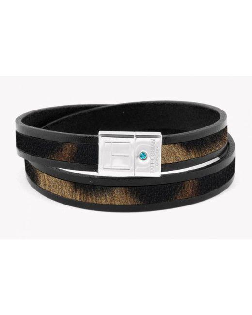Tateossian | Amazonian Slide Silver Bracelet In Brown for Men | Lyst