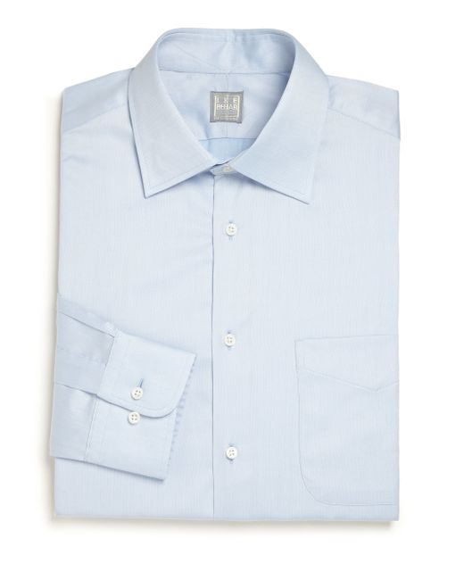 Ike Behar | Blue Regular-fit Solid Dress Shirt for Men | Lyst
