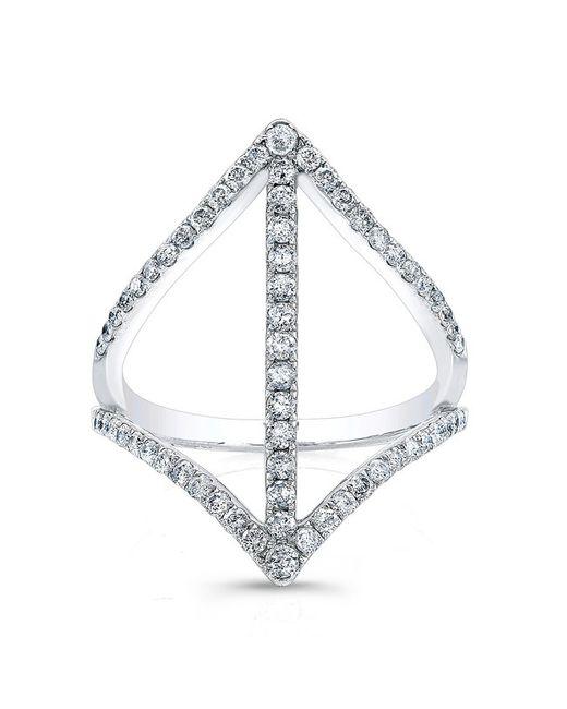 Anne Sisteron | Metallic 18kt White Gold Diamond Spear Ring | Lyst