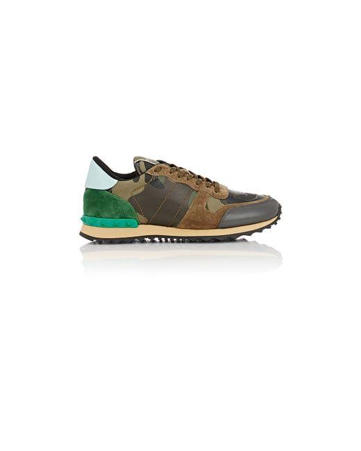Valentino   Brown Men's Camouflage Rockrunner Sneakers for Men   Lyst