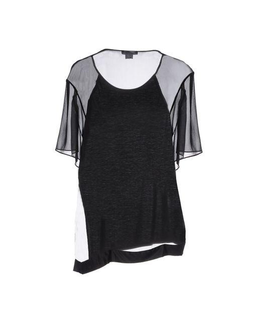 helmut lang t shirt in black lyst. Black Bedroom Furniture Sets. Home Design Ideas
