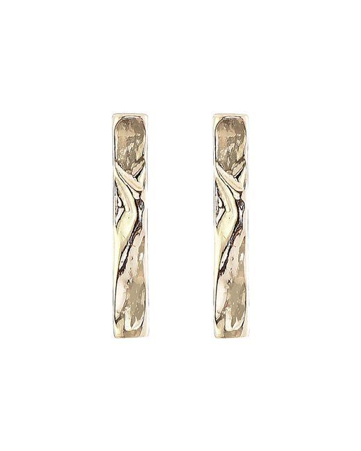 Sam Edelman   Metallic Crinkle Bar Stud Earrings   Lyst