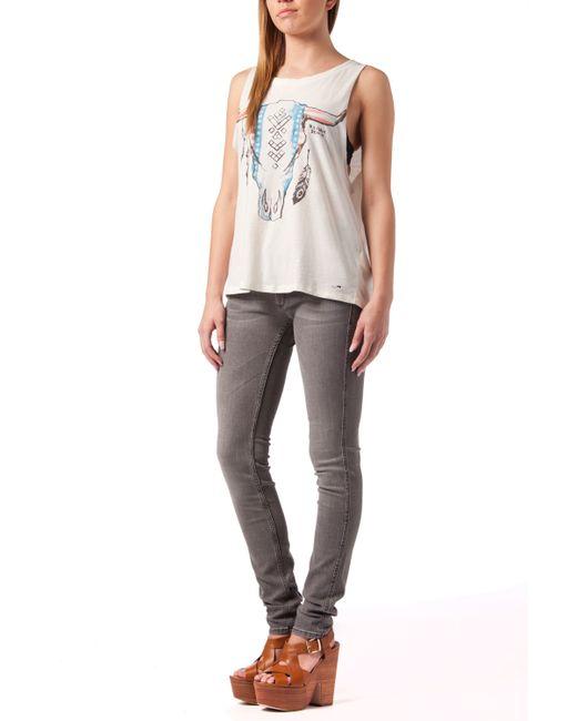 tommy hilfiger sophie skinny jeans in gray lyst. Black Bedroom Furniture Sets. Home Design Ideas