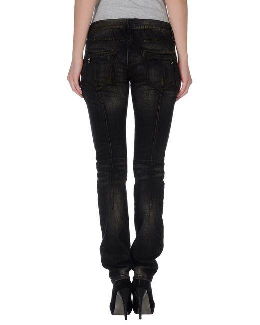 Balmain   Black Silksatin Tapered Pants   Lyst