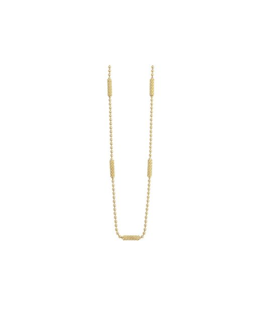 Lagos | Metallic 18k Gold Beaded Necklace, 16"