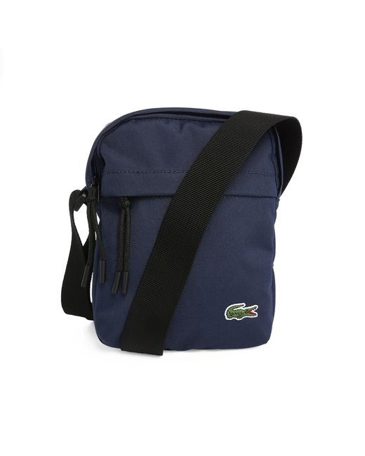 Amazing Lacoste Navy Small Format Fabric Shoulder Bag In Blue For Men  Lyst