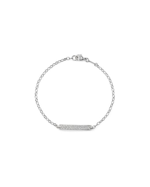 """Monica Rich Kosann   Metallic 18k White Gold Diamond Pavé """"carpe Diem"""" Posey Bracelet   Lyst"""