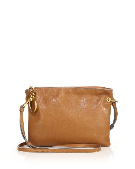 Jimmy choo Mardy Soft Leather Crossbody Bag in Beige ...