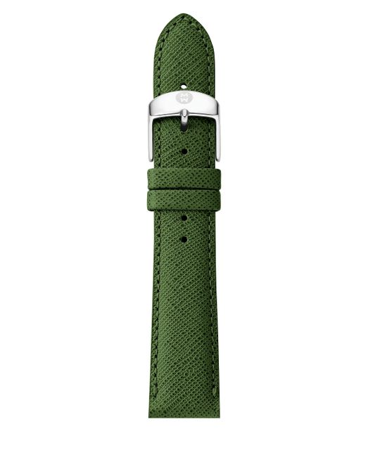 Michele Watches   Green Saffiano Leather Watch Strap/18mm   Lyst
