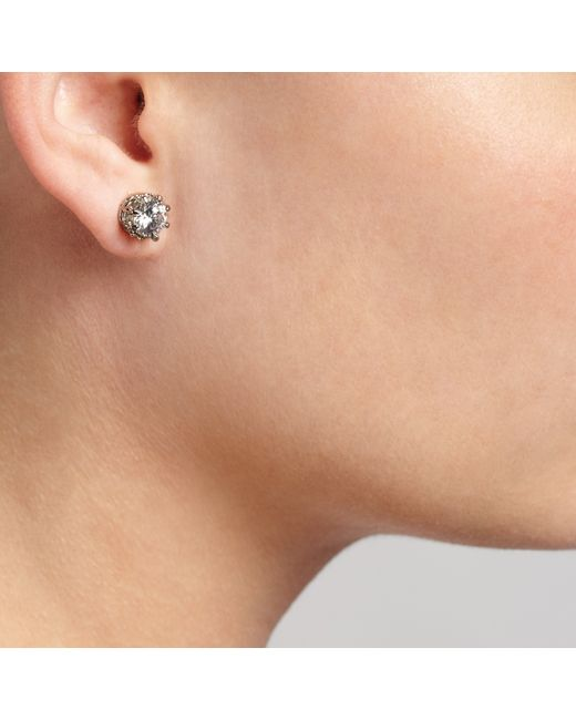 John Lewis | Metallic Large Cubic Zirconia Stud Earrings | Lyst