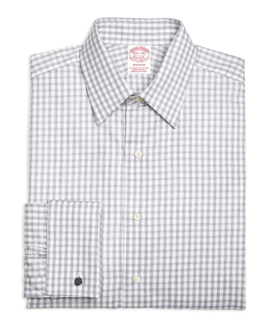 Brooks Brothers Madison Fit Heathered Gingham French Cuff