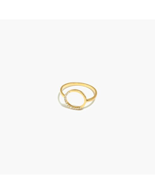 Madewell | Metallic Luster Circle Ring | Lyst