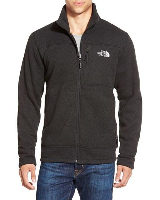 The North Face | Black 'gordon Lyons' Zip Fleece Jacket for Men | Lyst