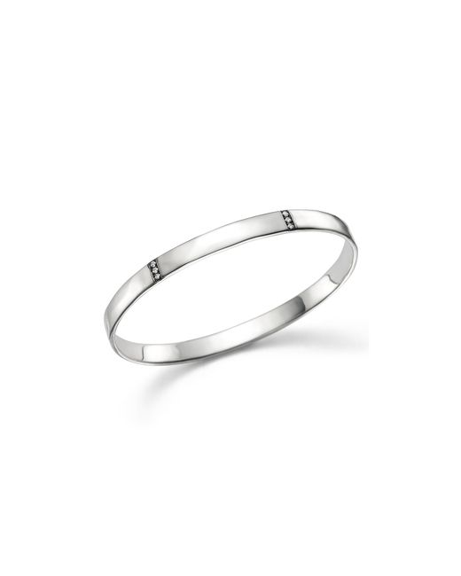 Ippolita | Metallic Sterling Silver Glamazon® Stardust 3 Section Medium Bangle With Diamonds | Lyst