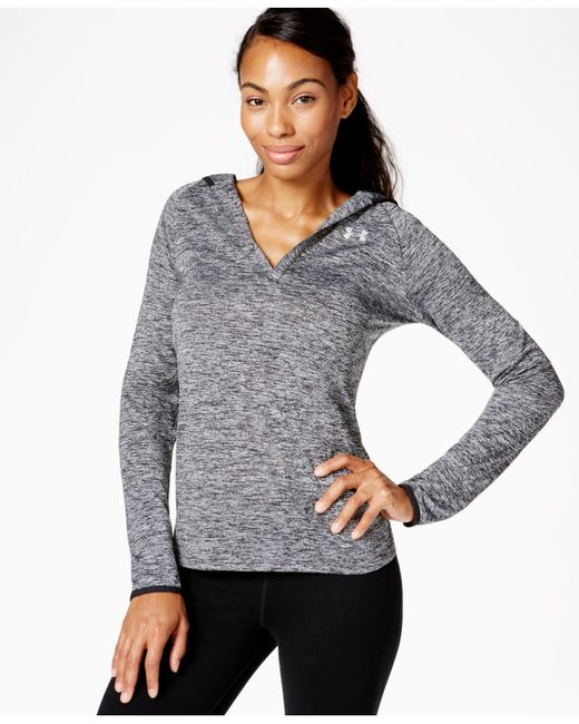 Under Armour | Black Ua Tech Heathered Hoodie | Lyst