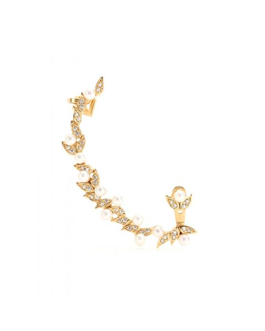 Joanna Laura Constantine | Metallic Gold-plated Ear Cuff With Pearls And Swarovski Crystals | Lyst